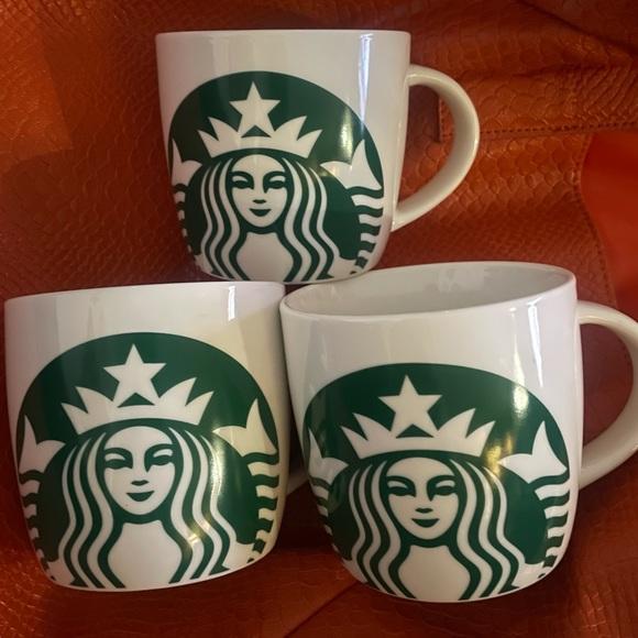 3 Starbucks 2017 14 oz logo coffee cups